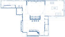 Finished basement design 2-D floor plan